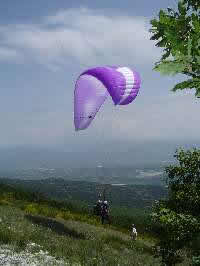 Paraglider take off