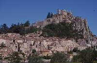 Sisteron with the old Citadel overlooking the town